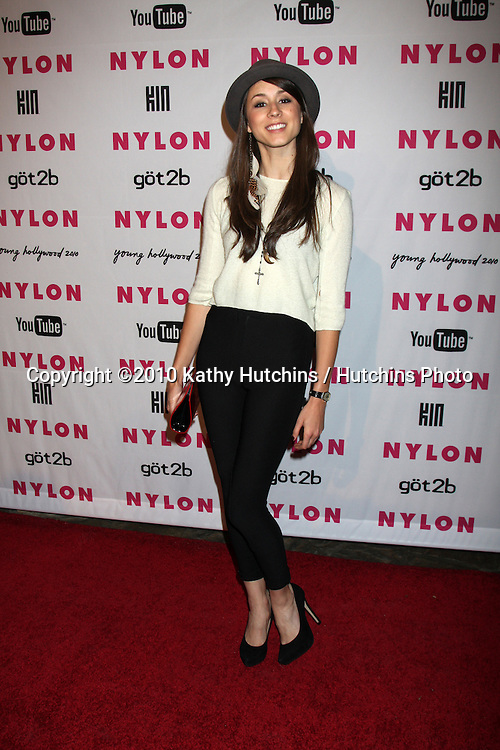 Troian Avery Bellisario.arrives at the Nylon Magazine Young Hollywood Party 2010.Hollywood Roosevelt Hotel, Poolside.Los Angeles, CA.May 12, 2010.©2010 Kathy Hutchins / Hutchins Photo...