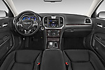 Stock photo of straight dashboard view of 2017 Chrysler 300 Limited 4 Door Sedan Dashboard