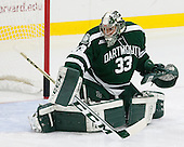 Devin Buffalo (Dartmouth - 33) - The Harvard University Crimson tied the visiting Dartmouth College Big Green 3-3 in both team's first game of the season on Saturday, November 1, 2014, at Bright-Landry Hockey Center in Cambridge, Massachusets.