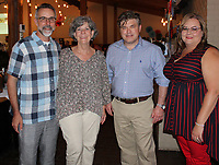 NWA Democrat-Gazette/CARIN SCHOPPMEYER Tim Hudson and Charlotte Taylor (from left), Jason Hurt and Heather Bailey attend Red, White and Baby Blue.