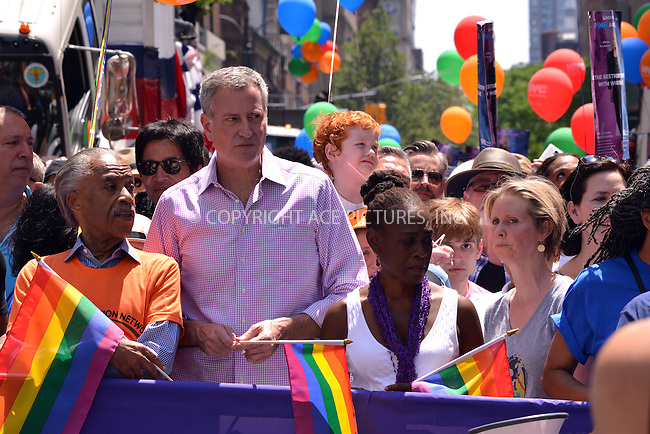 www.acepixs.com<br /> <br /> June 26 2016, New York City<br /> <br /> Al Sharpton, Mayor of New York City Bill de Blasio, Chirlane McCray and Cynthia Nixon attending the New York City Pride 2016 Parade on June 26, 2016 in New York City.<br /> <br /> <br /> By Line: Curtis Means/ACE Pictures<br /> <br /> <br /> ACE Pictures Inc<br /> Tel: 6467670430<br /> Email: info@acepixs.com<br /> www.acepixs.com