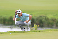 Scott Fernandez (ESP) on the 15th green during Saturday's Round 3 of the Porsche European Open 2018 held at Green Eagle Golf Courses, Hamburg Germany. 28th July 2018.<br /> Picture: Eoin Clarke | Golffile<br /> <br /> <br /> All photos usage must carry mandatory copyright credit (&copy; Golffile | Eoin Clarke)