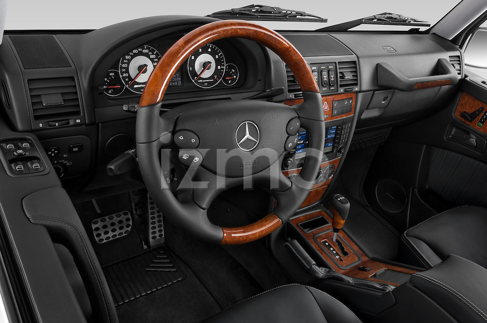 High angle dashboard view of a 2008 Mercedes Benz G55 AMG
