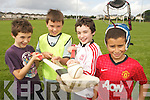Children enjoying the Ógras Summer Camp at the Caherslee GAA Grounds and Cumann Iosaef Centre on Thursday. Pictured left to right:  Darragh Doyle-O'Brien, Sean Collins, Eoin Walsh and John Goubra.