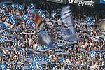 12.05.2018, Volksparkstadion, Hamburg, GER, 1.FBL. Hamburger SV vs Borussia Moenchengladbach,  im Bild   <br /> <br /> jubel hsv fans <br /> <br /> Foto &copy; nordphoto / Kokenge