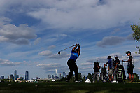 Patrick Reed (USA)in action during the final round of the Northern Trust played at Liberty National Golf Club, Jersey City, USA. 12/08/2019<br /> Picture: Golffile | Phil INGLIS<br /> <br /> All photo usage must carry mandatory copyright credit (© Golffile | Phil INGLIS)