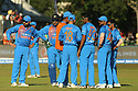 India's cricket team during a T20 match between Ireland and India at the Malahide cricket club in Dublin on June 27, 2018. Photo/Paul McErlane