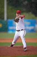 Florida Fire Frogs starting pitcher Bryse Wilson (20) delivers a warmup pitch during a game against the Daytona Tortugas on April 7, 2018 at Osceola County Stadium in Kissimmee, Florida.  Daytona defeated Florida 4-3 in a six inning rain shortened game .  (Mike Janes/Four Seam Images)