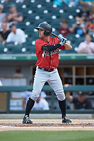 Kevin Kramer (17) of the Indianapolis Indians at bat against the Charlotte Knights at BB&T BallPark on May 26, 2018 in Charlotte, North Carolina. The Indians defeated the Knights 6-2.  (Brian Westerholt/Four Seam Images)