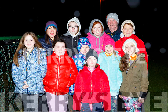 Keeping fit at the Glenflesk GAA OT walking on Monday night were front row l-r: Noreen Healy, Sarah Dineen, Abby Doherty, Emma Kelly, Maureen Healy and Abby Cronin Back row: Eileen Dineen, Caitlin Kelly, Caithlin Cronin, Dermot Kelly, Annie O'Donoghue,