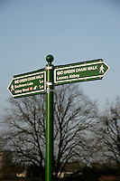 Sign for the Green Chain Walk in southeast London, UK
