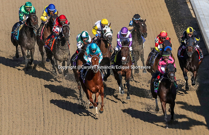 November 3, 2018: Monomoy Girl #11, ridden by Florent Geroux, wins the Longines Breeders' Cup Distaff on Breeders' Cup World Championship Saturday at Churchill Downs on November 3, 2018 in Louisville, Kentucky. Carolyn Simancik/Eclipse Sportswire/CSM