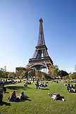 FRANCE, Paris, View of Eiffel Tour from Champ de Mars