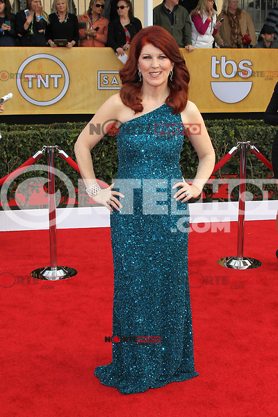 LOS ANGELES, CA - JANUARY 27: Kate Flannery at The 19th Annual Screen Actors Guild Awards at the Los Angeles Shrine Exposition Center in Los Angeles, California. January 27, 2013. Credit: mpi27/MediaPunch Inc. /NortePhoto /NortePhoto