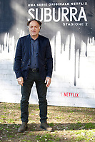 Francesco Acquaroli<br /> Rome February 20th 2019. Photocall for the presentation of the second season of the Netflix series Suburra at Casa del Cinema in Rome.<br /> Foto Samantha Zucchi Insidefoto