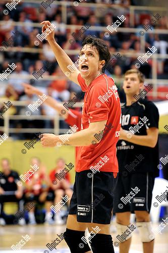 2011-09-28 / Volleybal / seizoen 2011-2012 / Antwerpen-Waasland / Marlon Rafael PALHARINI ..Foto: Mpics