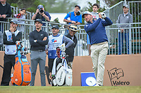 Graeme McDowell (NIR) watches his tee shot on 10 during Round 3 of the Valero Texas Open, AT&T Oaks Course, TPC San Antonio, San Antonio, Texas, USA. 4/21/2018.<br /> Picture: Golffile | Ken Murray<br /> <br /> <br /> All photo usage must carry mandatory copyright credit (© Golffile | Ken Murray)