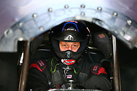 Apr 22, 2017; Baytown, TX, USA; NHRA funny car driver Jeff Diehl during qualifying for the Springnationals at Royal Purple Raceway. Mandatory Credit: Mark J. Rebilas-USA TODAY Sports