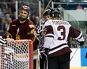 Joe Basaraba (Duluth - 18), Ryan Forgaard (Union - 3) - The University of Minnesota-Duluth Bulldogs defeated the Union College Dutchmen 2-0 in their NCAA East Regional Semi-Final on Friday, March 25, 2011, at Webster Bank Arena at Harbor Yard in Bridgeport, Connecticut.