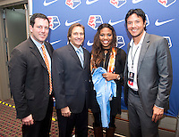 Marissa Diggs, Randy Waldrum, Brian Ching. The NWSL draft was held at the Pennsylvania Convention Center in Philadelphia, PA, on January 17, 2014.