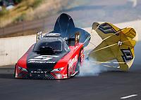 Jul 22, 2017; Morrison, CO, USA; NHRA funny car driver Cruz Pedregon during qualifying for the Mile High Nationals at Bandimere Speedway. Mandatory Credit: Mark J. Rebilas-USA TODAY Sports