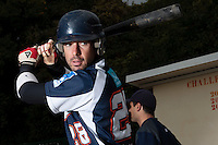 23 October 2010: Pierrick Lemestre of Savigny is seen during Savigny 8-7 win (in 12 innings) over Rouen, during game 3 of the French championship finals, in Rouen, France.