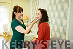 Sheila McQuinn applying make up to Clover Wharton at the new beauty rooms at Horans Health Shop, The Square, Tralee, on Friday.