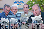 Liam Hurley, John Teahan, Eoin O'Shea and Dan Cronin who are seeking pictures of the building of Milltown Community Hall and also pictures of events held there over the years for its Golden Jubilee celebrations later this year