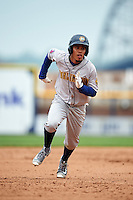 Burlington Bees shortstop Juan Moreno (2) during a game against the Quad Cities River Bandits on May 9, 2016 at Modern Woodmen Park in Davenport, Iowa.  Quad Cities defeated Burlington 12-4.  (Mike Janes/Four Seam Images)