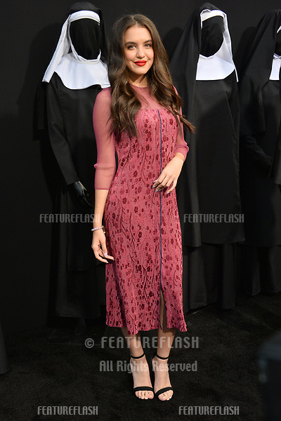 "LOS ANGELES, CA. September 04, 2018: Lilimar at the world premiere of ""The Nun"" at the TCL Chinese Theatre, Hollywood."