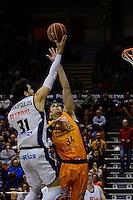 Aguilar vs Giannopoulus<br /> Liga Endesa ACB - 2014/15<br /> J6<br /> Valencia Basket vs Rio Natura Monbus Obradoiro