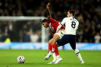 14th January 2020; Tottenham Hotspur Stadium, London, England; English FA Cup Football, Tottenham Hotspur versus Middlesbrough; Lukas Nmecha of Middlesbrough competes for the ball with Harry Winks of Tottenham Hotspur - Strictly Editorial Use Only. No use with unauthorized audio, video, data, fixture lists, club/league logos or 'live' services. Online in-match use limited to 120 images, no video emulation. No use in betting, games or single club/league/player publications