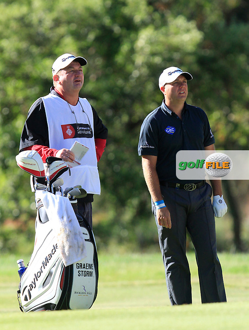 Graeme Storm (ENG) on the 7th fairway during Round 3 of the Open de Espana  in Club de Golf el Prat, Barcelona on Saturday 16th May 2015.<br /> Picture:  Thos Caffrey / www.golffile.ie