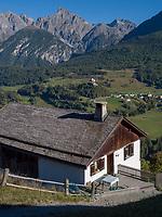 Wassermühlle bei Flan, Scuol, Unterengadin, Graubünden, Schweiz, Europa<br /> watermill near Flan, Scuol, Engadine, Grisons, Switzerland