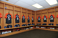 A General View of the away dressing room, with Swansea city kits placed out prior to the Sky Bet Championship match between Sheffield United and Swansea City at Bramall Lane, Sheffield, England, UK. Saturday 04 August 2018