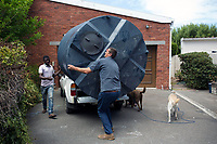 CONSTANTIA, SOUTH AFRICA – FEBRUARY 8: Leslie Steenkamp receives a water tank at his home on February 8, 2018 in Constantia, about 20 kilometers south of Cape Town, South Africa. The city of Cape Town is experiencing a water shortage and water restrictions are in place. The big users of water are not the poor in the townships but the wealthy people in the suburbs who have pools and gardens. Mr. Steenkamp has many water saving measures in place including collecting rain water. (Photo by Per-Anders Pettersson)