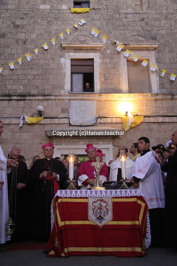 Israel, Haifa, the Latin Patriarch of Jerusalem Fouad Twal at the Stella Maris Monastery on Mount Carmel