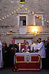 Israel, Haifa, the Latin Patriarch of Jerusalem Fouad Twal at the Stella Maris Monastery on Mount Carmel