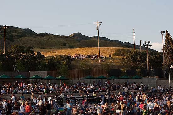 Grammy award-winner Diana Krall performs at Red Butte Garden..Friday July 31, 2009 in Salt Lake City. fans