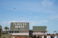 63495-02714 Kites flying at Flagler Beach Flagler Beach, FL