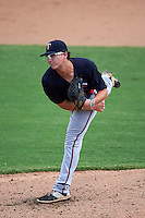 Minnesota Twins pitcher Logan Lombana (56) during an instructional league game against the Baltimore Orioles on September 22, 2015 at Ed Smith Stadium in Sarasota, Florida.  (Mike Janes/Four Seam Images)