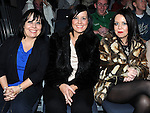 Barbara Barnes, Charmaine and Clare Carey pictured at the Jason Byrne show in the Barbican centre. Photo: Colin Bell/pressphotos.ie