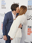 SANTA MONICA, CA - FEBRUARY 25: Actor Miles Teller (L) and actress Keleigh Sperry attend the 2017 Film Independent Spirit Awards at the Santa Monica Pier on February 25, 2017 in Santa Monica, California.