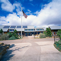 Grand Canyon Visitor Center, Grand Canyon National Park, Arizona, USA - Photovoltaic Solar Panels on Roof