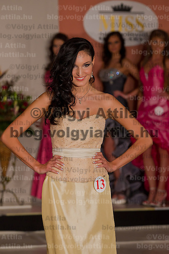 Renata Czinova participates the Miss Hungary beauty contest held in Budapest, Hungary on December 29, 2011. ATTILA VOLGYI