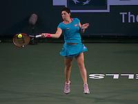 CARLA SUAREZ NAVARRO (ESP)<br /> <br /> Tennis - BNP PARIBAS OPEN 2015 - Indian Wells - ATP 1000 - WTA Premier -  Indian Wells Tennis Garden  - United States of America - 2015<br /> &copy; AMN IMAGES