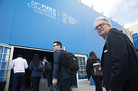 MOSCOW, RUSSIA - June 13, 2018: Members of the United Bid delegation (which included Canada, Mexico and the United States) enter the 68th FIFA Congress before the vote on the location of the 2026 World Cup.