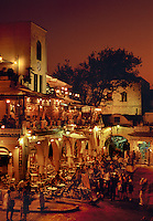 Outdoor restaurants old town Rhodes Dodecanese Islands Greece
