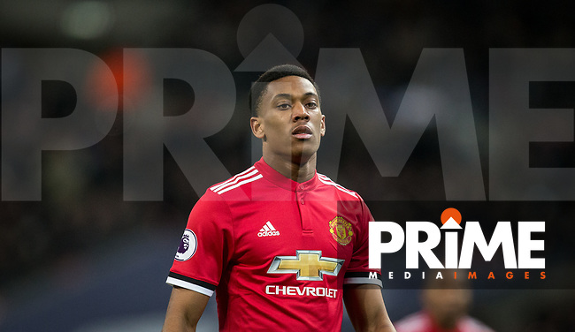 Anthony Martial of Man Utd during the Premier League match between Tottenham Hotspur and Manchester United at Wembley Stadium, London, England on 31 January 2018. Photo by Andy Rowland.