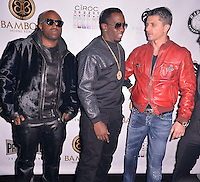 MIAMI, FL - NOVEMBER 21: King Los, Rico Love and P. Diddy aka Sean Combs celebrates Thanksgiving at at Bamboo Miami on November 21, 2012 in Miami, Florida. © MPI10/MediaPunch Inc /NortePhoto